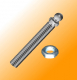 Threaded Rod M12x40 for Swivel Feet,  Steel, Series 15